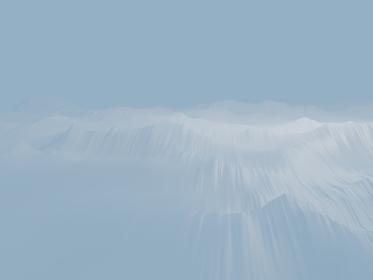 白い吹雪のような3d render