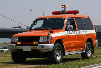 国土交通省のパトロールカー(2010年国土交通省淀川水防訓練)