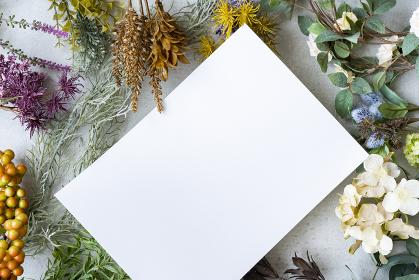 コンクリートの平面に置かれた白い紙