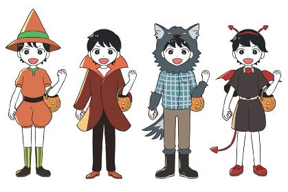 ハロウィンの仮装(男の子)
