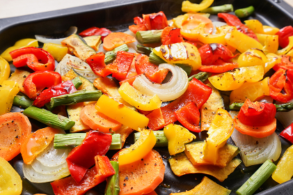 カラフルな野菜料理