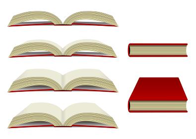 本・書籍 下から見た イラストセット