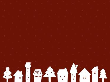 クリスマスの背景イラスト(赤)