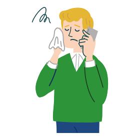 男性 外国人 ブロンド 携帯電話 スマホ 困っている