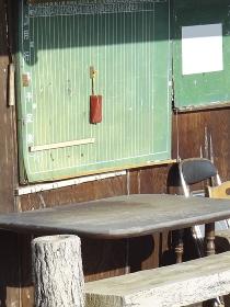 ゲートボール場の黒板