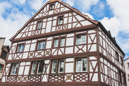 a half-timbered house in bernkastel-kues