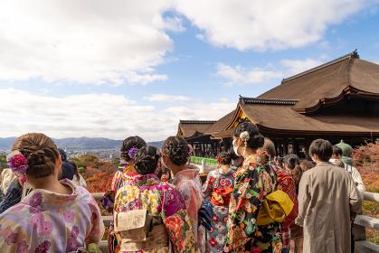着物着る観光客 清水寺