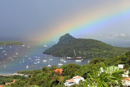 シンプソンラグーン 虹 セントマーチン島 カリブ