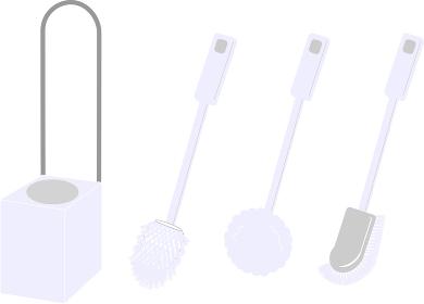 様々な形状のトイレブラシ(斜め)