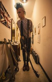 Punk musician portrait