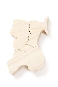 東北地方の木製地図