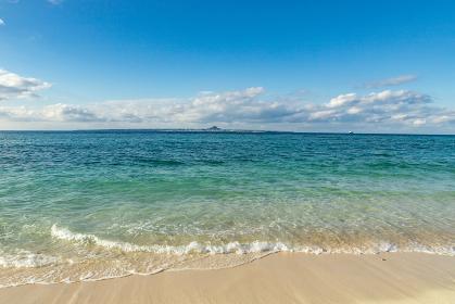 瀬底浜からの眺望 沖縄県国頭郡本部町瀬底島