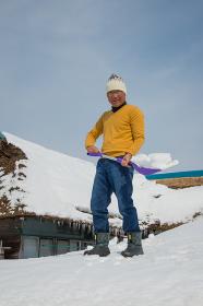 雪国で田舎暮らしを楽しむシニア