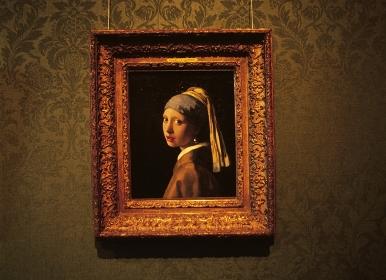 フェルメール 「真珠の耳飾の少女」(修復前)