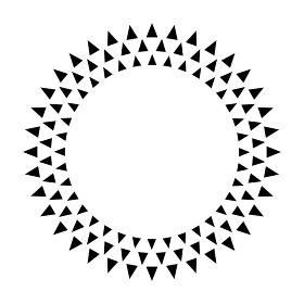 三角形 太陽型サークル 模様 背景イラスト