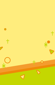 背景素材 幾何学 図形 イエロー オレンジ グリーン