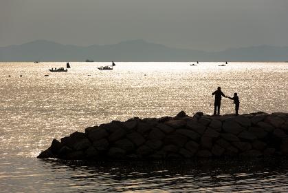 四国、小豆島の11月の風景 香川・日本