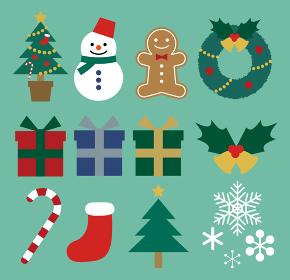 【クリスマスベクターイラスト素材】クリスマスのカット集