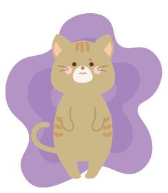 もやもや 悩むネコのイラスト
