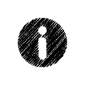 チョークで描いたような図形/アイコン(インフォーメーションマーク)