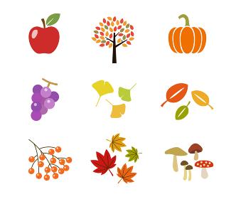 秋のアイコンセット