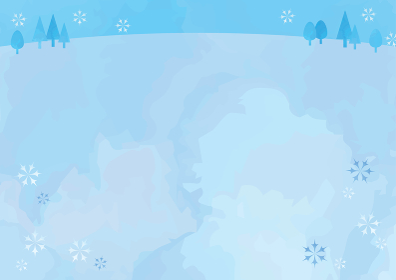 冬の野原背景イラスト