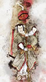 浮世絵 歌舞伎役者 その39 水彩バージョン