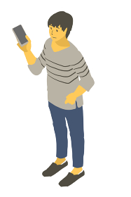 アイソメトリック図法でスマートフォンを見る