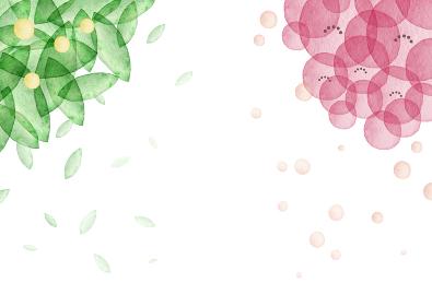ひな祭り 桜 梅 桃の花 橘 背景 フレーム 水彩 イラスト