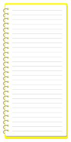 スケッチブック リングノート フレーム イラスト ※A4の三つ折りサイズ1ページ分 ベクター