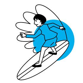 スポーツ 女性 サーフィン