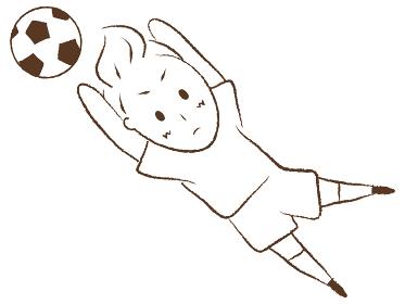サッカーをする少年 ゴールキーパー