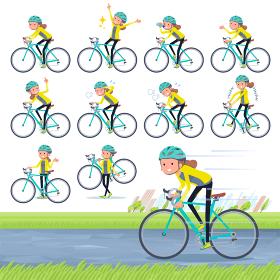 knot hair women Sportswear_road bike