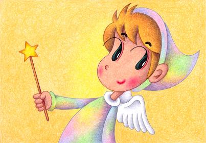 星のバトンを振る天使