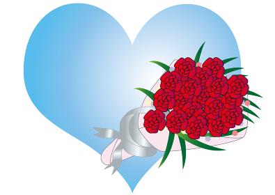薔薇の花束のホワイトデー