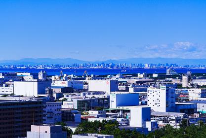 千葉市街 東京湾 東京都の沿岸部 【東京湾岸の都市風景】