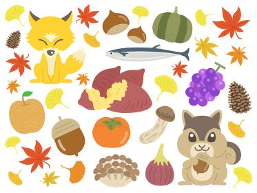 秋のイラスト素材セット