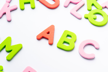 ABC アルファベット 白背景