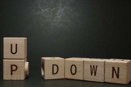 株価や投資(投機)、感情のイメージ素材