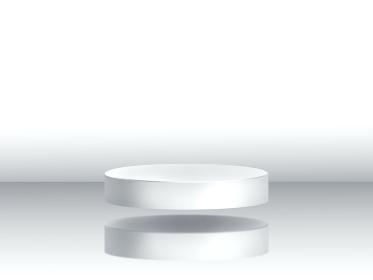 背景素材 3D 白い浮遊する円柱の台座 白