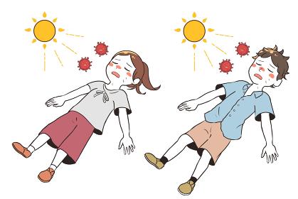 熱中症と新型コロナウイルスで倒れる