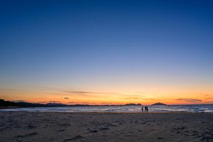 さつき松原から見る夕焼け(福岡県宗像市)