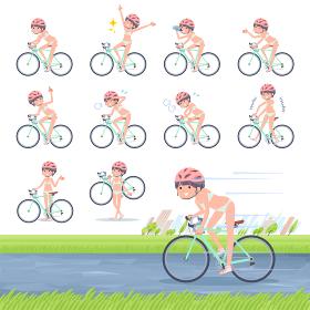 flat type underwear women_road bike