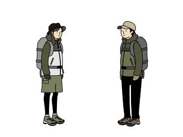 登山の服装 男女