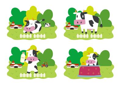 牛 牧場 酪農 草原