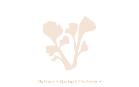 秋の味覚、キノコのシンプルなイラスト マイタケ