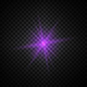 purple glowing light glitter