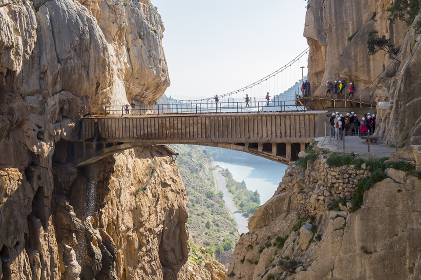 'El Caminito del Rey' (King's Little Path), World's Most Dangerous Footpath reopened in May 2015. Ardales (Malaga), Spain