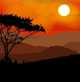 Image Mountains, Landscape and Trees. Abstract Eco Banner. Vector Illustration  EPS10. o2015-10-05-01