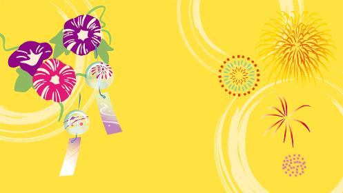 朝顔と花火の夏イメージ